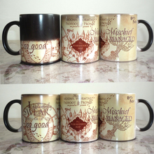 Drop shipping Light Magic mug mischief mangaged Marauders Map magic color chaning mugs cup Tea coffee mug cup