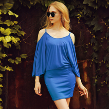 Buy Summer Dress 2017 Blue Party Dresses Women Chiffon Dress Robe Sexy Vestido Plus Size Casual Women Clothing for $9.74 in AliExpress store