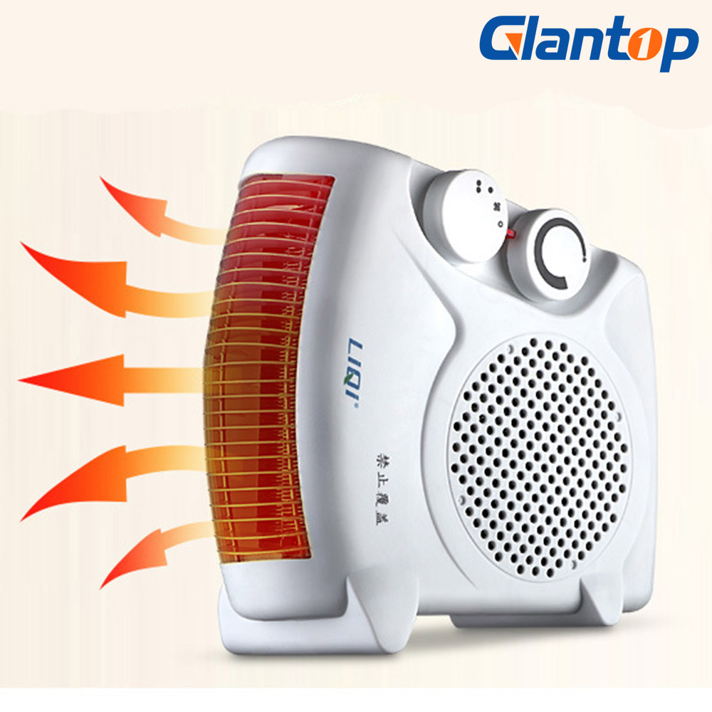 Glantop Electric Air Heater Warm Air Blower Mini Room Fan Heater Electric Warmer For Office Home 220V LD0021(China)