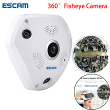 ESCAM Shark QP180 960P IP VR Camera WiFi Network Fisheye 1.44mm 360 Wi-Fi Cameras Surveillance CCTV Cam support VR BOX