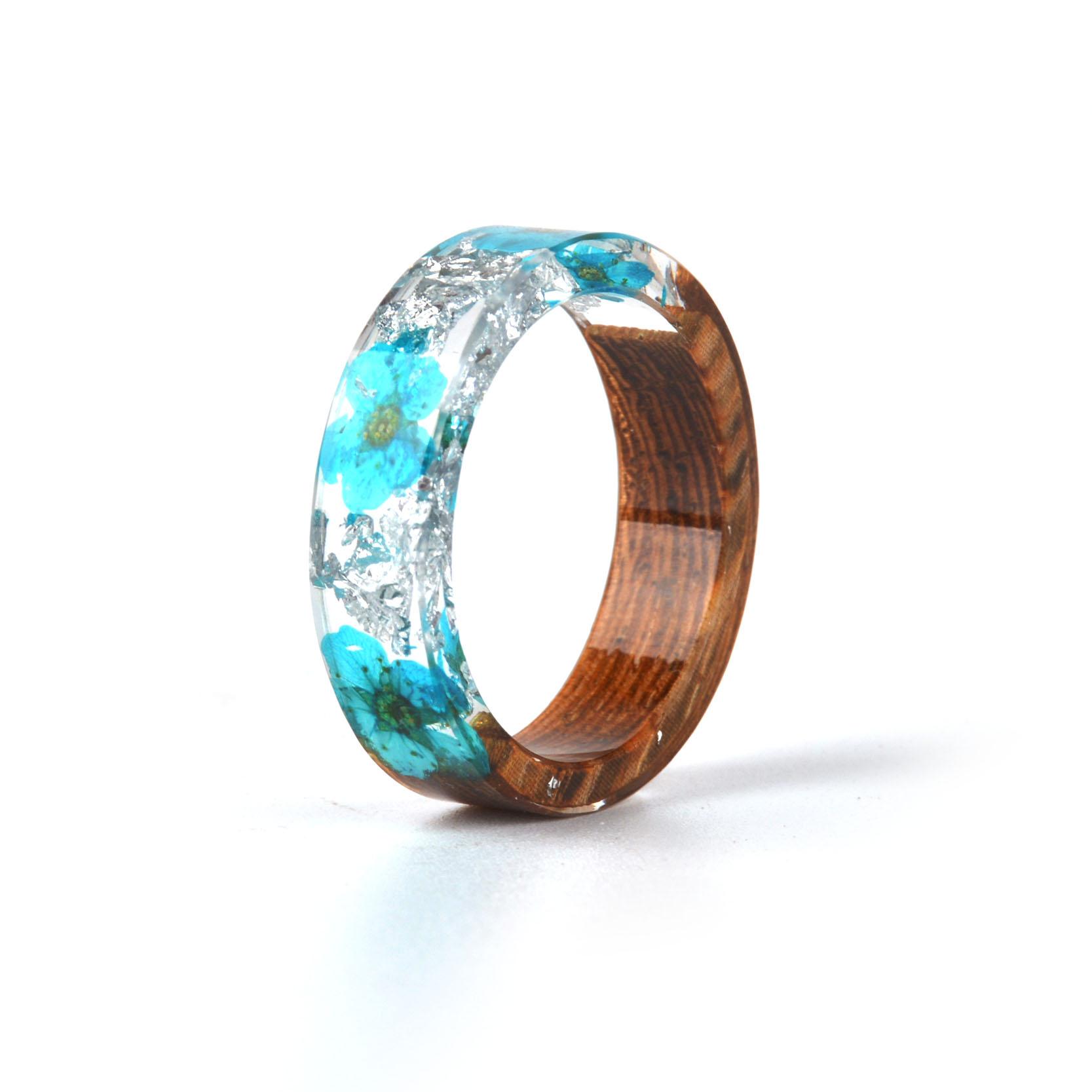 Handmade Wood Resin Ring Many Styles 31