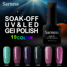 Sarness Shiny Neon Color UV Gel Lacquer Nail Polish Semi Permanent Gel Varnish Lak UV Lamp Nail Art Gel Polish All 1pc for Nails(China)