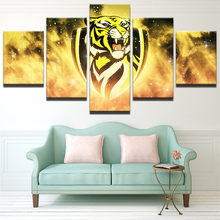 PENGDA Wall Pictures For Living Room Decoration Wall Art Frame Canvas Painting 5 Panel Sports Football Pictures HD Print Poster