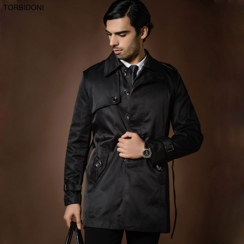 2017 New Men Trench Coat Fashion Slim England Style Long Jacket Overcoat Single Breasted with Sashes Party Wear Parka 6XL 7XL