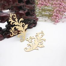 2PCS/SET Flower Ornament Embellishment Scrapbooking Card Hanging On Wooden Craft DIY Wall Decoration(China)