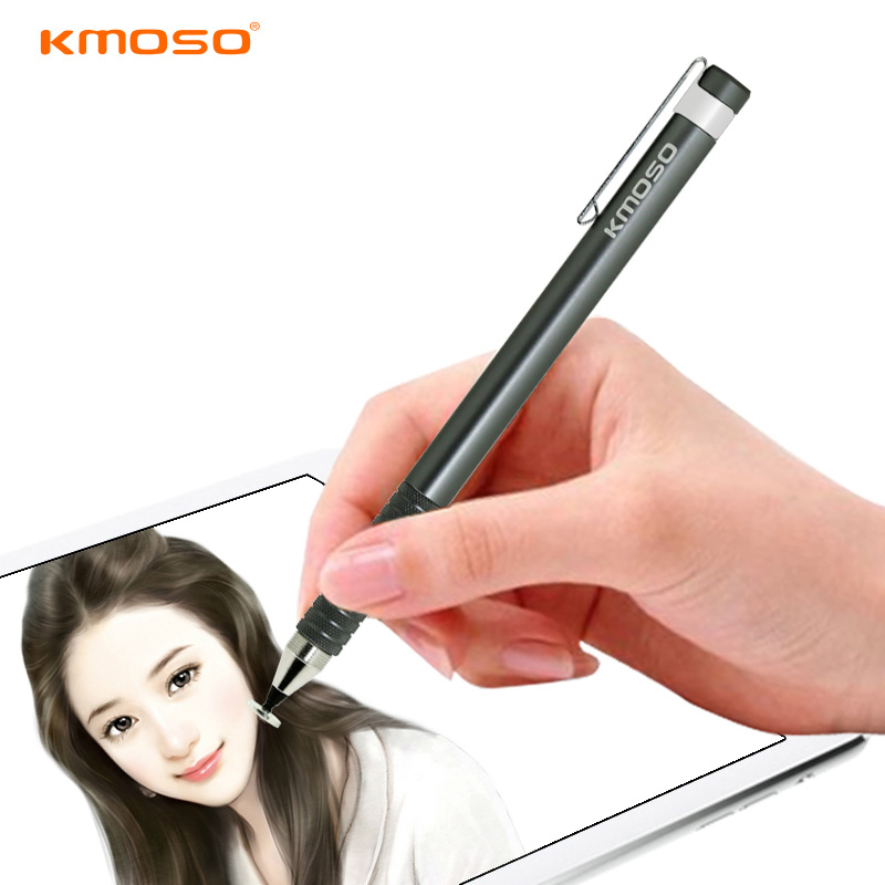 Universal Aluminum Alloy Touch Screen Stylus Capacitive Pen For ASUS Tablet pc ,Metal Pencil With Clip For Mobile phone Portable