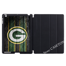 Green Bay Packers Football Stand Folio Cover Case For iPad Mini 1 2 3 4 Air Pro 9.7 Auto Wake Sleep(China)