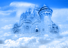 Horizontal Art fabric Party stage photography backdrops freeze ice castle background for Festical celebration XT-3827(China)