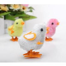 Lovely Kids Toys Wind Up Child Baby Toys Easter Chick Chicken Nice Hopping Plush Fluffy Toy Kawaii Cute Jump Gift Random Color