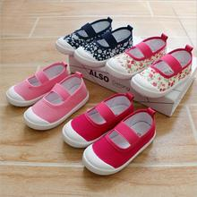 New Fashion Kids Shoes girls Spring & autumn Children Baby girls shoes canvas health & comfortable perfect Flat school shoes(China)
