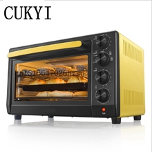CUKYI Household electric Ovens 32L Big capacity 1600W Multi-functional Baking Oven, lemon yellow(China)