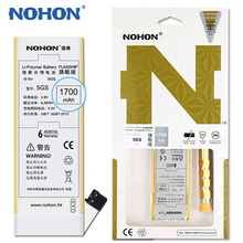 100% Original NOHON 1700mAh Battery For iPhone 5S 5C iPhone5S iPhone5C High Capacity Mobile Phone Batteries Retail Package Tools