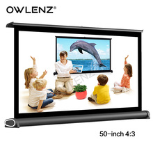 "OWLENZ 50"" 4:3 Portable Easy Carry Mini Projection Projector Table Screen Matt White Fabric for Home Cinema Meeting Exhibition(China)"