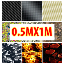 Free Shipping!!High Quality Hydrographic Film Water Transfer Printing Film Aqua Film Hydrographics film for Motor 0.5M WIDE(China)