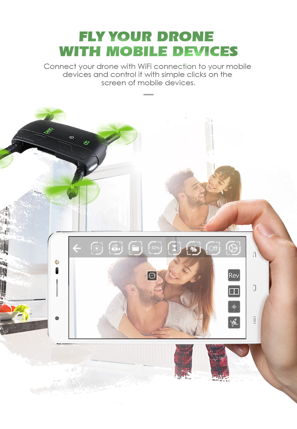Selfie Drone With Camera