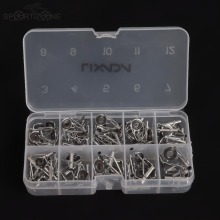 80Pcs Fishing Rod Guide Guides Tip Set Repair Kit DIY Eye Rings Different Size Stainless Steel Frames with Fish Box