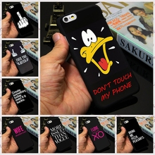 Signed Figure Don't Touch My Phone Quote Design Case for Apple iPhone 7 4 4s 5 5s 5c 6 6s plus Custom Phone Cover