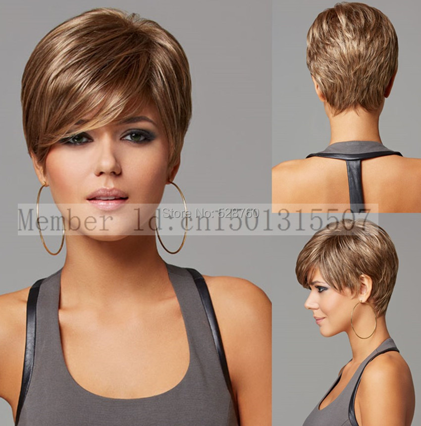 Light Tan Heat-resistant Fiber Fashion Short Wig For Women Free shipping<br><br>Aliexpress