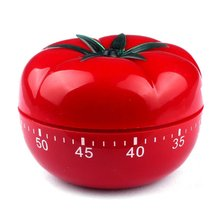 Red cute tomatoes style 60 minutes mechanical counting back cooking kitchen necessory alarm clock time