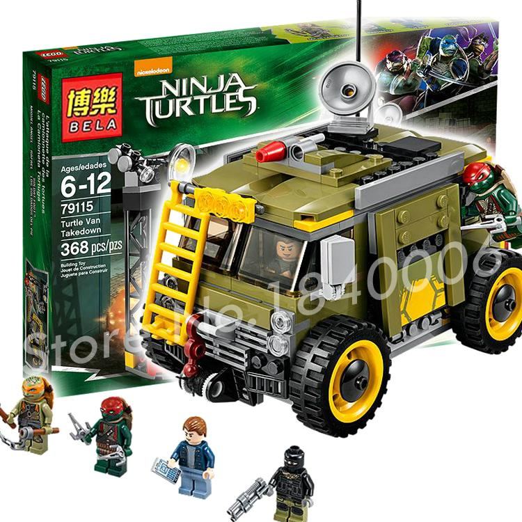 368pcs Bela 10276 Teenage Mutant Turtle Van Takedown Building Vern Action Toys Gifts Compatible With Lego<br><br>Aliexpress