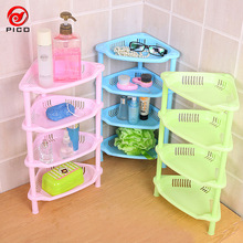 New Arrive Cute Four-Layer Mini living room Shelf Storage Rack hierarchical classification kitchen organizer dish rack ZL301