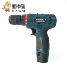 Buy NIKALAI two speeds Adjustable 12v cordless electric screwdriver Rechargeable lithium battery mini drill screw gun power tool set for $28.80 in AliExpress store