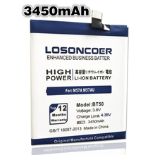 LOSONCOER 3450mAh New BT50 Battery For Meizu Metal M57A M57AU MA01 Meilan M1 Battery Batteries(China)