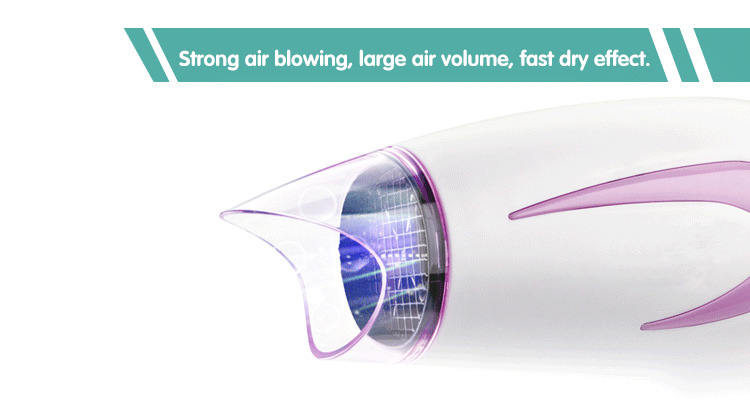 X-7712 Factory Direct Selling Household Hair Dryer Negative Ion Cold Hot Air Folding Blower