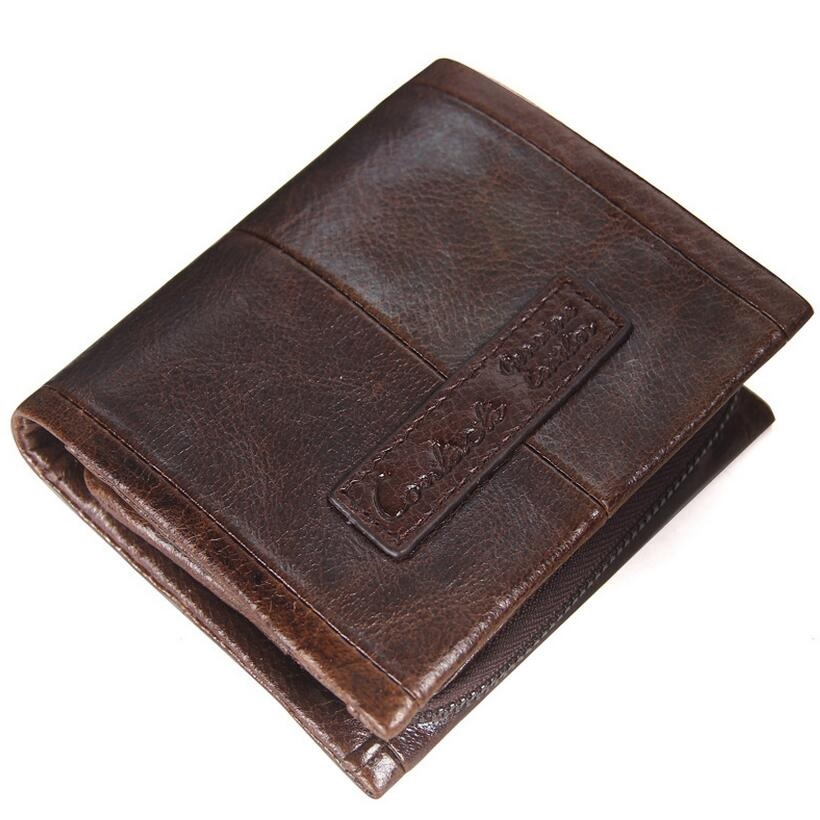 Vintage Men Genuine Leather  Men Wallets Leather Male Purse Clutch Male Card Holder Mens Wallet Coin Purse Male Bags<br>