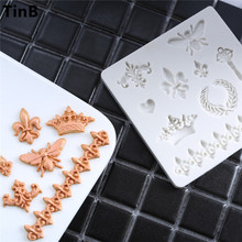 European Retro Butterfly Crown Cake Silicone Mold Fondant Cake Decorating Tools Gumpaste Chocolate Mould Silicone Mould Bakeware