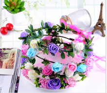 Europe scenic area tourism children garland take a picture flower props hair jewelry mixed color