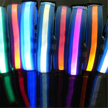 LED Dog Night Safety Collar Flashing Grow Light Up 2 Nylon Pets LED Collars Wholesale LY1