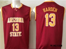 WINGISAM Top Quality Arizona State Sun Devils #13 James Harden College Basketball Jerseys All Stitched Embroidery Logos