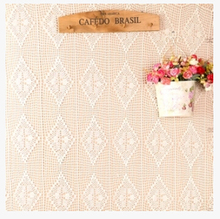 Hand Crochet Flower Tablecloths Beige 150X200CM Sofa towel Home Cover cloth Rectangular Table cloth Home Textile(China)
