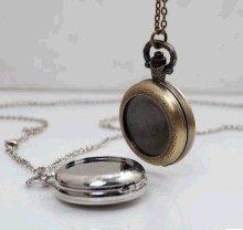 Vintage Style bronze silver DIY pocket watch pendant wholesale free-map pocket watch good quality wholesale