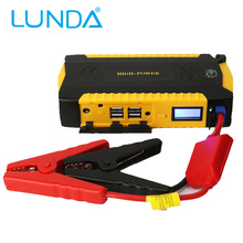 LUNDA Car jump starter Great discharge rate Diesel power bank for car Motor vehicle booster start jumper battery 4USB Power Bank