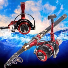 Hot Fishing Rod Set  1.8-3.6m Telescopic Fishing Rod With 14BB Spinning Fishing Reel Sea Fishing Combos