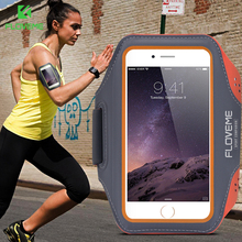 FLOVEME Sports Leather Arm Band Case For iPhone 6 6s Plus Cover for Samsung Galaxy S7 edge J5 2016 J7 Case Cover Phone Bags