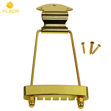 FLEOR 1PCS 6 String Archtop Trapeze Tailpiece Golden for Archtop Jazz Guitar Parts