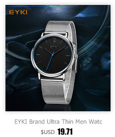 Watches Eyki Couple Weave Mech Strap Watches Classic Simple Milanese Stainless Steel Men Women Business Watch Japan Movement With Box
