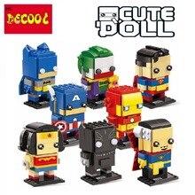 Decool superheros Batman superman Iron Man Avengers Lego brickheadz minifigure Marvel building blocks kids toys set gift