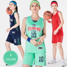 2017 Women Basketball Jersey Uniform Suit Shirt and Short Pants Team Training Clothes Custom Logo Number Breathable