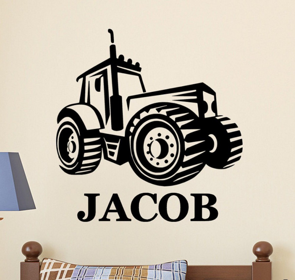 Tractor wall decor gallery home wall decoration ideas tractor wall decal promotion shop for promotional tractor wall kw31653 personalized name farm tractor vinyl wall amipublicfo Gallery