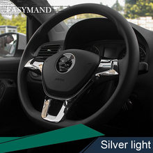 Car Steering Wheel Cover ABS Matte Decoration For Volkswagen VW GOLF 7 GTi MK7 POLO 2014 2015 Passat B7 B8 Jetta MK5 MK6 2015
