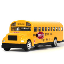 1:32 alloy car model school bus truck model toy sound and light music children's toys birthday gift