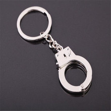Funny Accessories Police Handcuff Keychain Alloy Car Key Keyring Pendant Key Chains chaveiro for men Gifts(China)