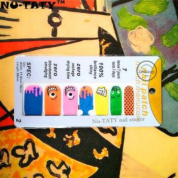 Nu-ТАТИ Граффити Стиль Циклоп Ногтей Наклейки 14 шт./компл. Водонепроницаемый Ногтей Переводные Картинки Наклейки Гель Для Ногтей Маникюр Фольга Красоты Макияж