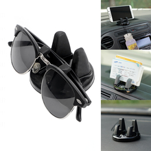 Car Mount Clip for Glasses Ticket Card 360 Degree Rotation Auto Car Mobile Phone Stand Holder for iPhone Samsung HUAWEI(China)