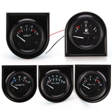 2017 Hot Sale Promotion Car Racing Modified Instrument Water Temperature Table Oil Pressure Gauge Fuel 12v 52mm With Light