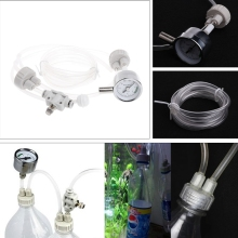 Aquarium DIY CO2 Generator System Kit With Pressure Air Flow Adjustment Water Plant Fish Tank Aquarium Co2 Diffuser #080925#(China)